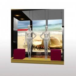 Fond de vitrine PVC 30/100ème M1 100 x 200 cm