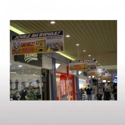 Affiche suspendue PVC 30/100ème M1 60 x 160 cm