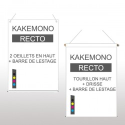 Kakémono recto 100x140cm