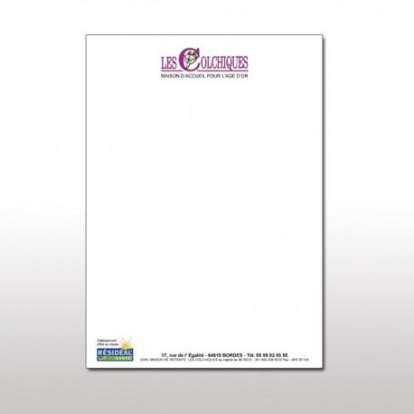 Papier à lettre à entête A4