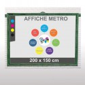 Affiches metro 200x150