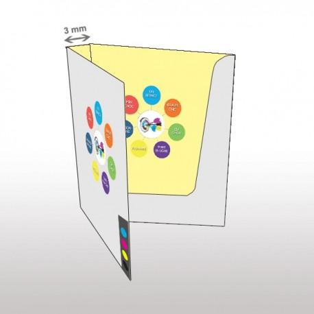 Chemise à rabats impression intérieur extérieur dos 3mm