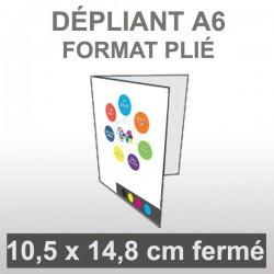 Dépliant A6 4 faces