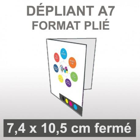 Dépliant A7 4 faces