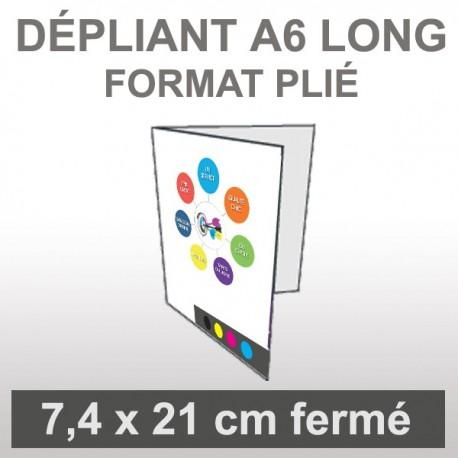 Dépliant A6 long 4 faces