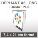 Dépliant A6 long (4 faces)