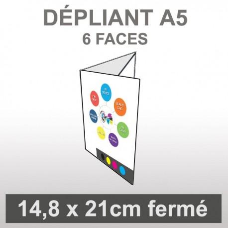 Dépliant A5 6 faces