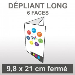 Dépliant LONG (6 faces roulé)