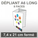 Dépliant A6 Long (8 faces roulé)