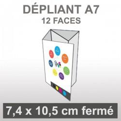 Dépliant A7 (12 faces roulé)