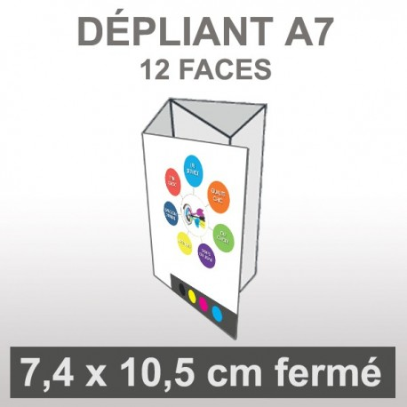 Dépliant A7 12 faces