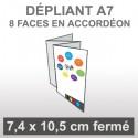 Dépliant A7 8 faces en accordéon