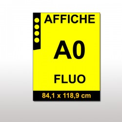 Affiches FLUO A0 JAUNE