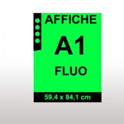 Affiches FLUO A1 VERT