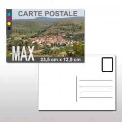 Cartes postales MAX (23,5 cm x 12,5 cm)