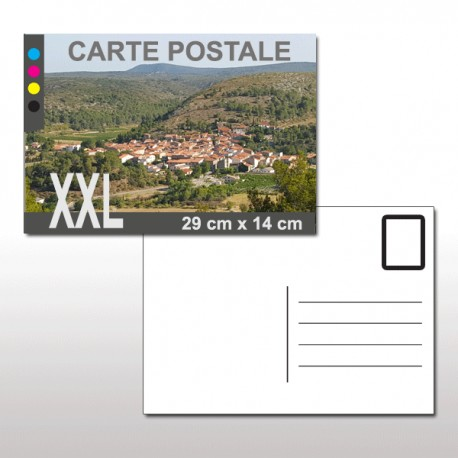 Cartes postales XXL (29 cm x 14 cm)