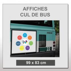 Affiches pour dos de bus
