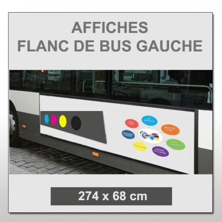 Flanc de bus gauche 274x68cm