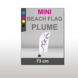 Mini Beach Flag 73 cm Plume