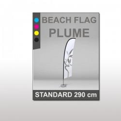 Beach flag plume Standard 290cm