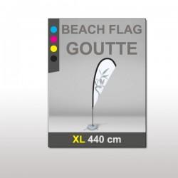 Beach flag goutte XL 440 cm