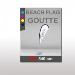 Beach flag goutte XXL 540 cm