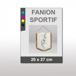 Fanion sportif 20x27 cm