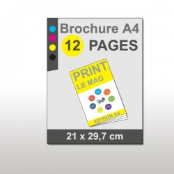 Magazine A4 12 pages papier 170g