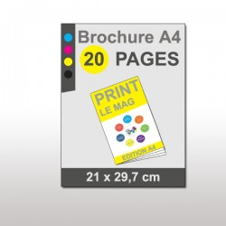 Magazine A4 20 pages papier 170g