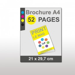 Magazine A4 52 pages papier 170g