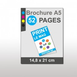 Magazine A5 52 pages papier 170g mat