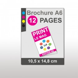 Magazine A6 12 pages papier 135g