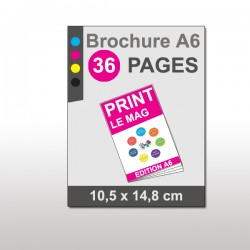 Magazine A6 36 pages papier 135g