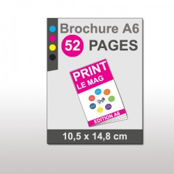 Magazine A6 52 pages papier 135g