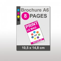 Magazine A6 8 pages papier 170g mat