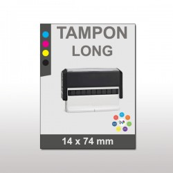 Tampon plastique long 14x74mm