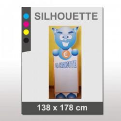 PLV Silhouette 138 x 178 cm