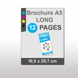Magazine A5 Long 12 pages papier 135g