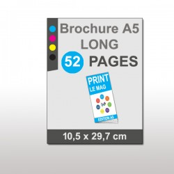 Magazine A5 Long 52 pages papier 135g