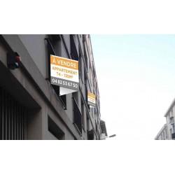 Panneau double 120 x 40 immobilier en V