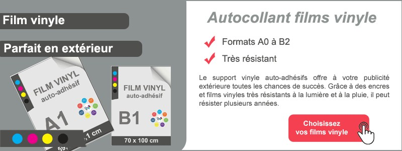 Autocollant film vinyle
