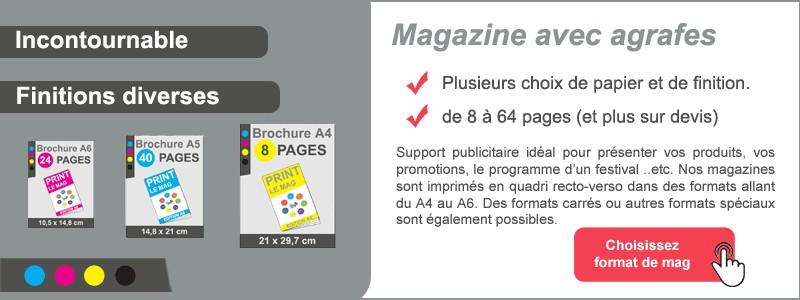 Magazine avec agrafes
