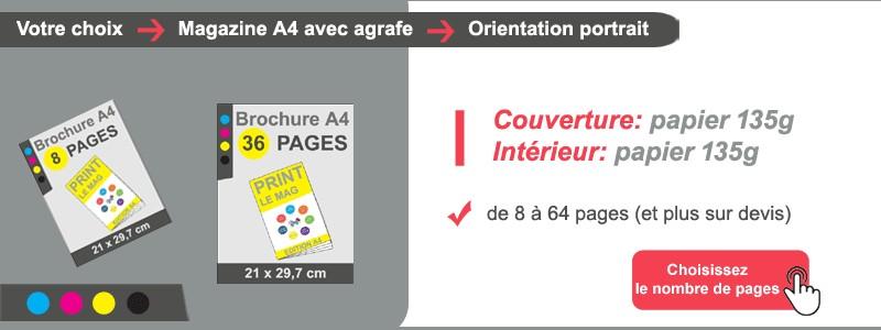 Magazine A4 couv + intérieur papier 135g