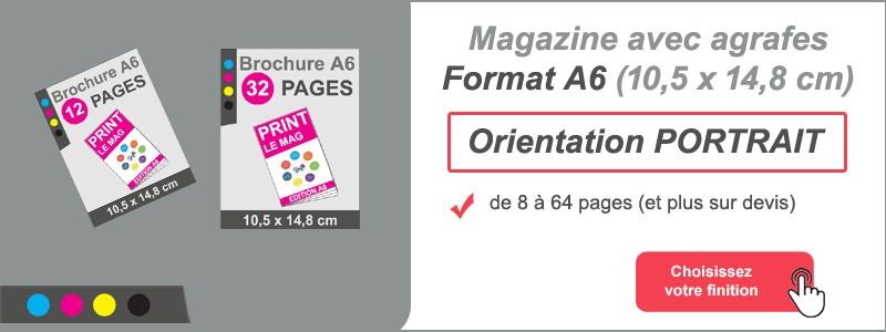 Magazine brochure agrafes A6 portrait