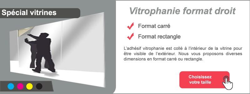 Vitrophanie carré