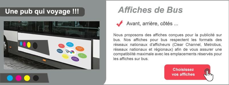 Affiches publicité sur BUS