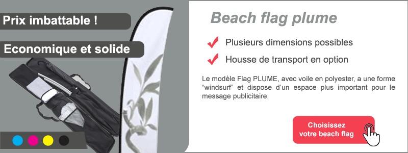 Beach flag plume