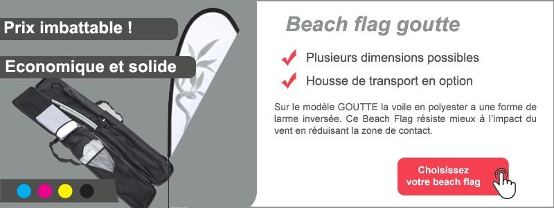 Beach flag goutte