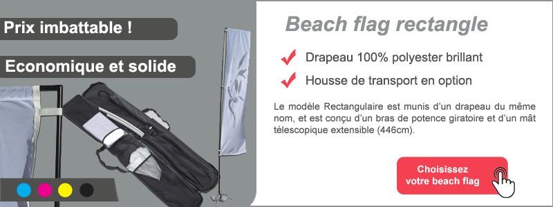 Beach flag rectangle