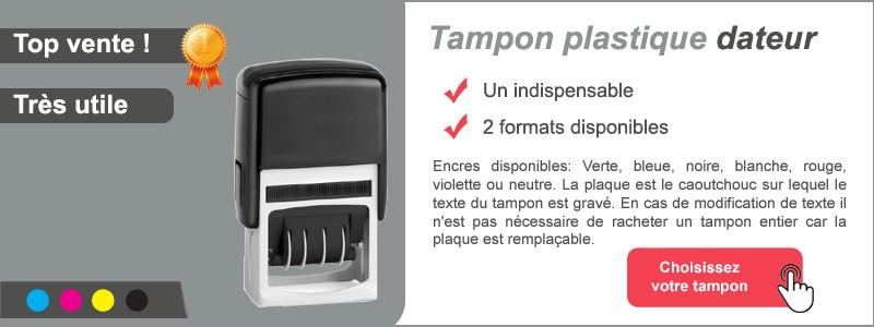 Tampon plastique dateur